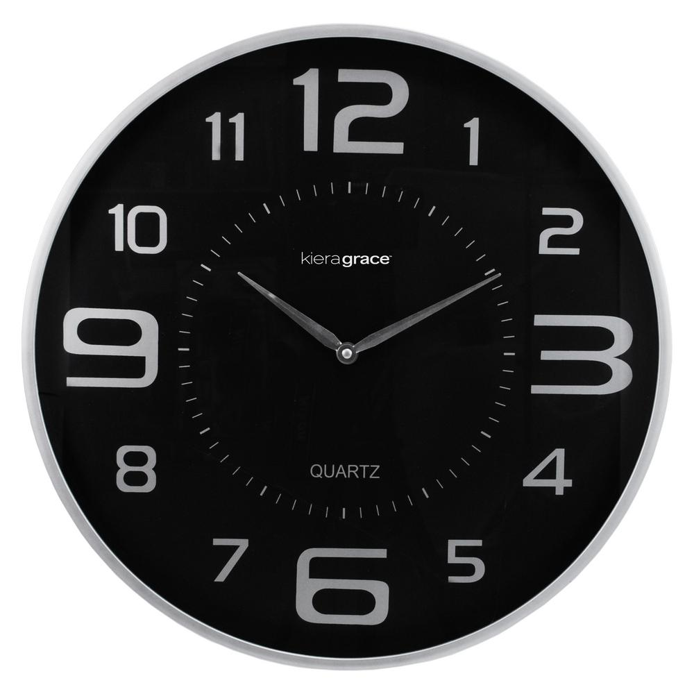 4-Pack Austin Wall Clock, 18 in., 1.75 in. D - Silver