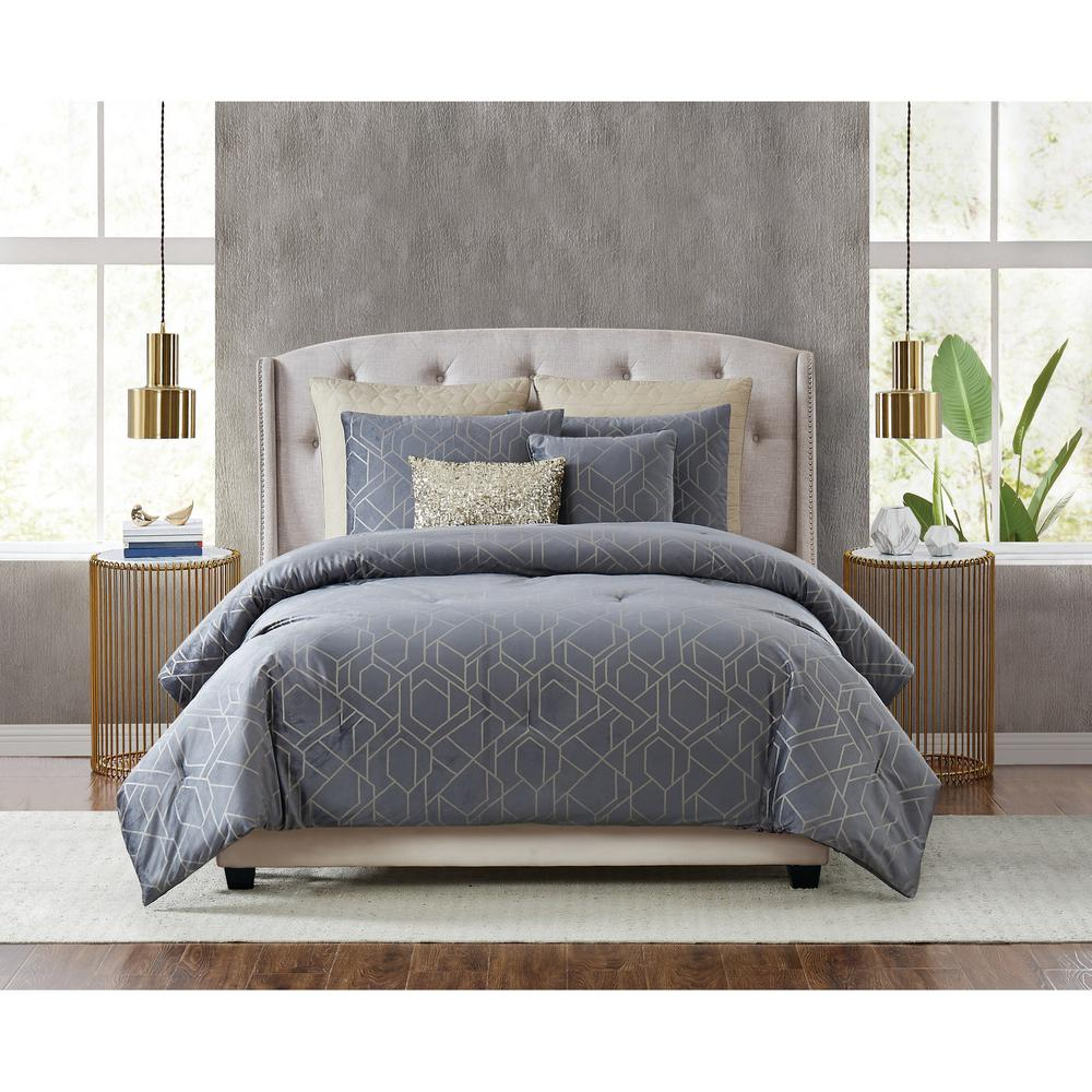 fifth avenue lux madison 7 piece queen comforter set cs3210gyq7 1300 the home depot fifth avenue lux madison 7 piece queen comforter set cs3210gyq7 1300 the home depot