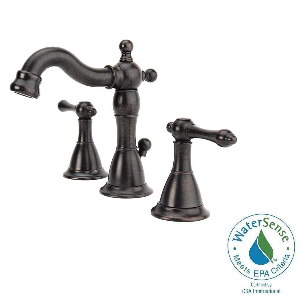 Bronze - Pegasus - Widespread Bathroom Sink Faucets - Bathroom ...