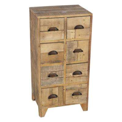 35.5 in. Brown Cabinet with Drawers