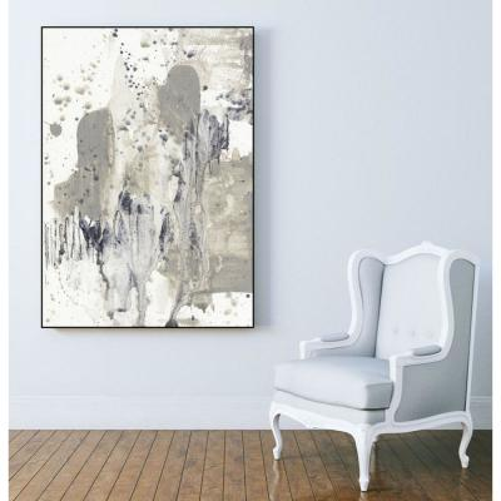 "30 in. x 40 in. ""Paynes Splash I"" by Jennifer Goldberger Framed Wall Art"