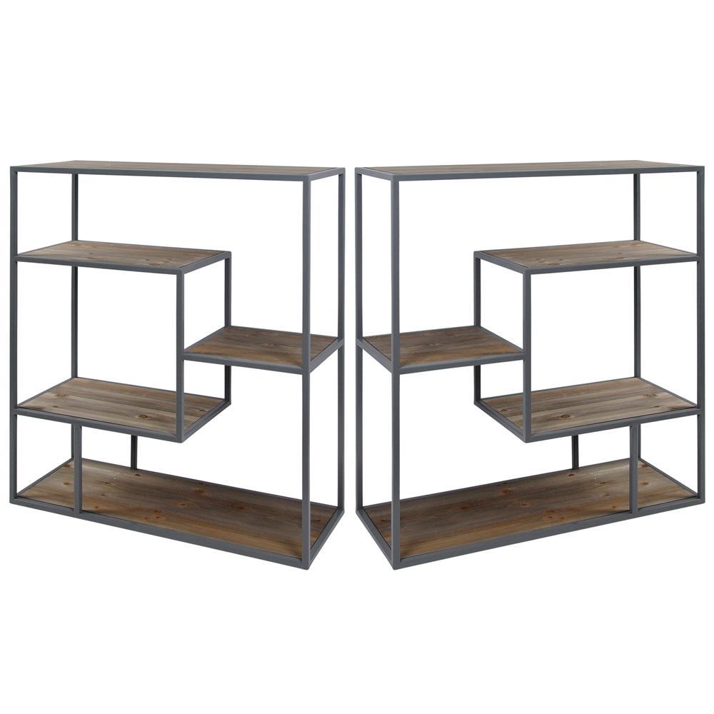 Grey Bryan Keith Industrial Gray Hill Bookcase (2-Piece)