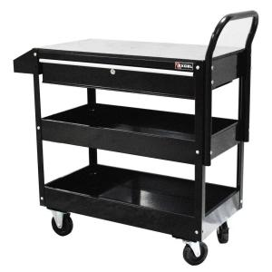 Excel 36.8 inch W x 15.6 inch D x 37.6 inch H Each Steel Tool Cart in Black by Excel