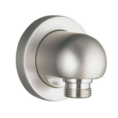 Stillness Wall-Mount Supply Elbow in Vibrant Brushed Nickel