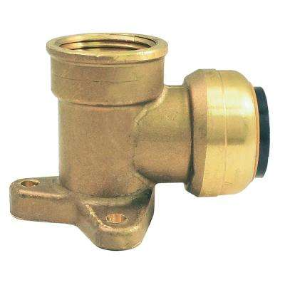 1/2 in. Brass Push-to-Connect x Female Pipe Thread Drop Ear Elbow