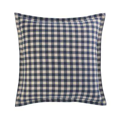 Kingston Navy Cotton Flannel Euro Sham (Set of 2)