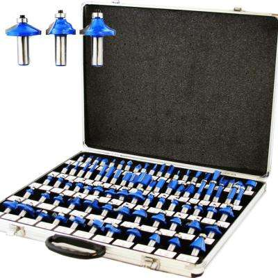 1/4 in. Tungsten Carbide 3-Blade Router Bit Set (80-Piece)