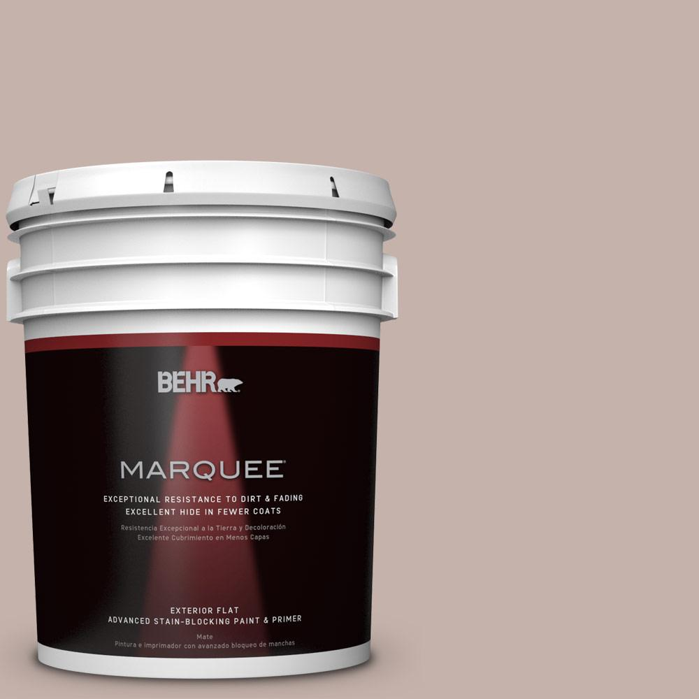 BEHR MARQUEE 5-gal. #PPU17-10 Mauvette Flat Exterior Paint