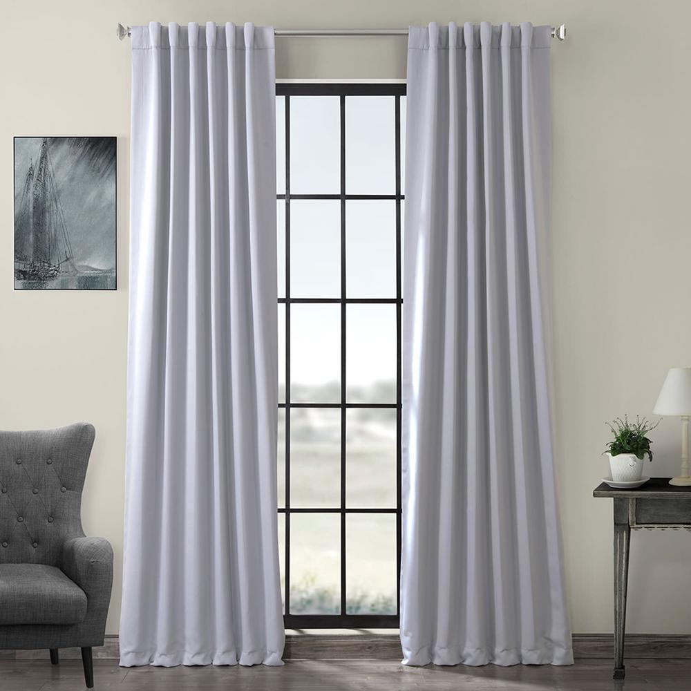 Semi-Opaque Fog Grey Blackout Curtain - 50 in. W x 120 in. L (Panel)