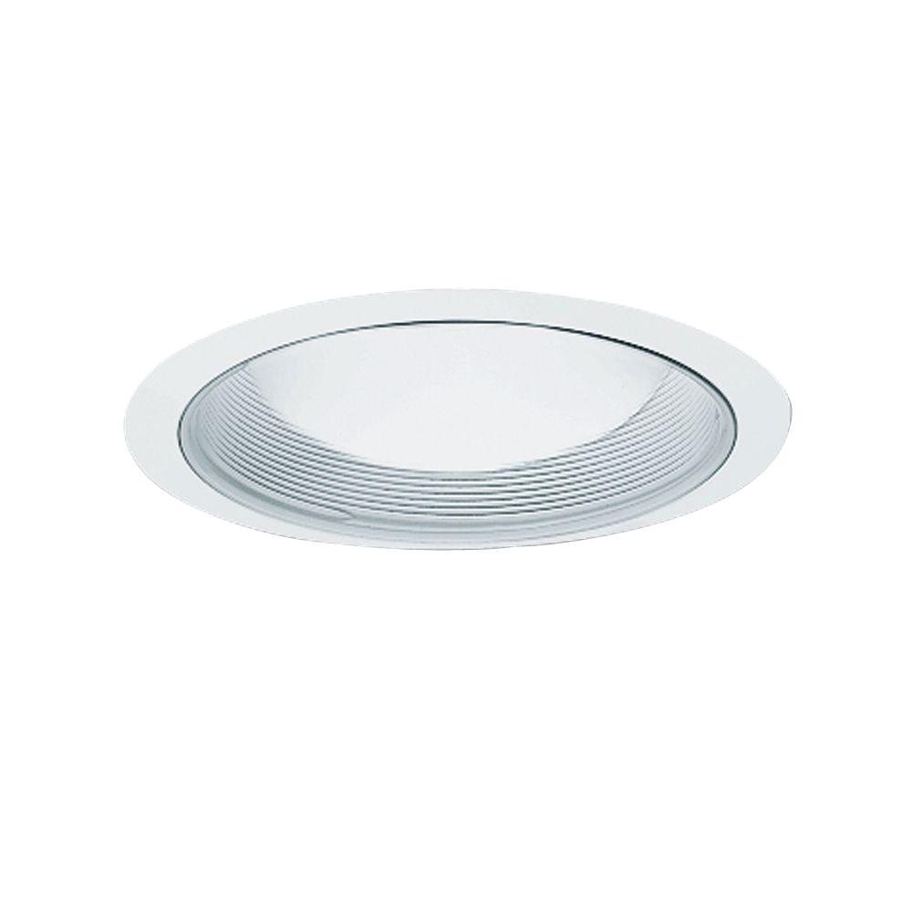 Halo 6 In White Recessed Ceiling Light Baffle And Trim Ring