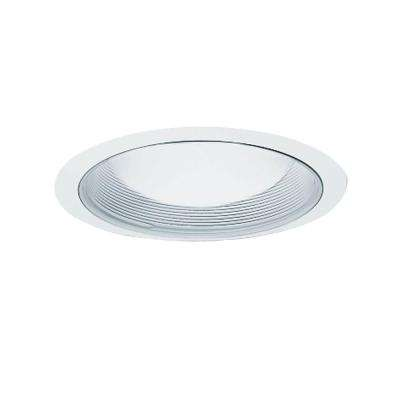 6 in. White Recessed Ceiling Light Baffle and Trim Ring