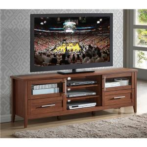 Modern Oak TV Stand with Storage for TV's Up To 75 in. by