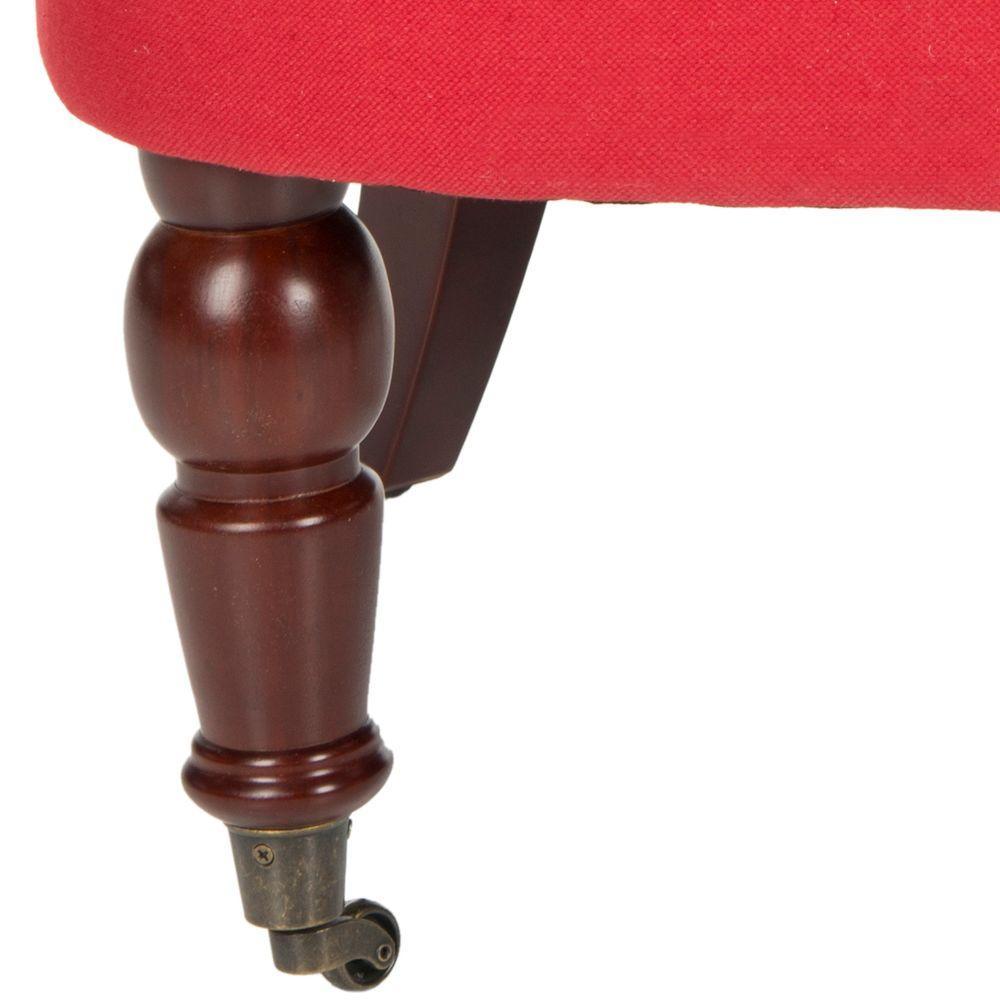 Pleasant Safavieh Carlin Cranberry Cotton Tufted Accent Chair Theyellowbook Wood Chair Design Ideas Theyellowbookinfo