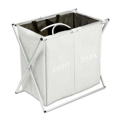 Light Gray Fabric Oxford Cloth Dirty Clothes Storage Laundry Basket