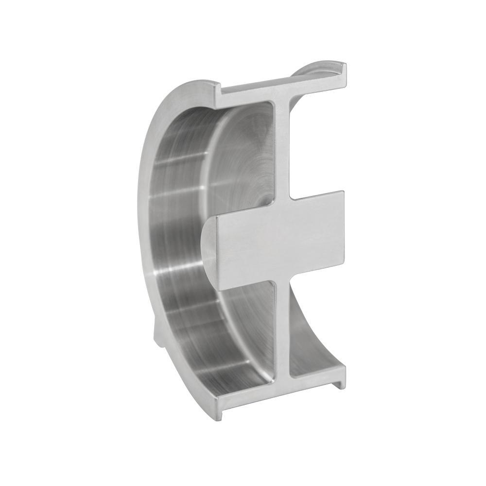 W-3250 1/2 in. Stainless Steel Pocket Door Flush Pull
