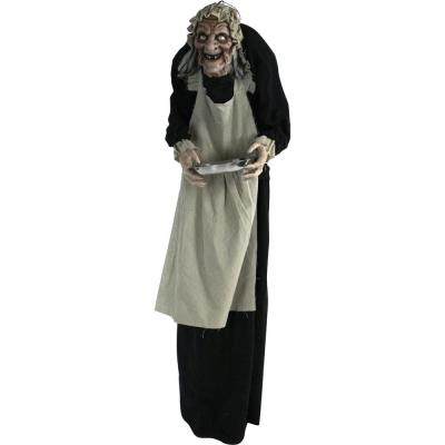 60 in. Touch Activated Animatronic Zombie Maid