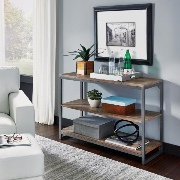 Home Styles Barnside Metro Driftwood Gray Console Table 5053-22