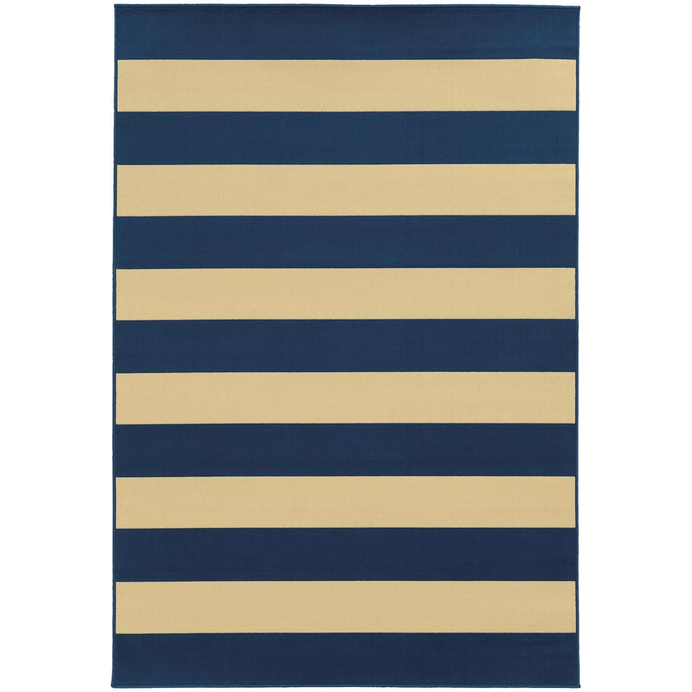 Home Decorators Collection Nantucket Navy 2 Ft. 5 In. X 4 Ft. 5
