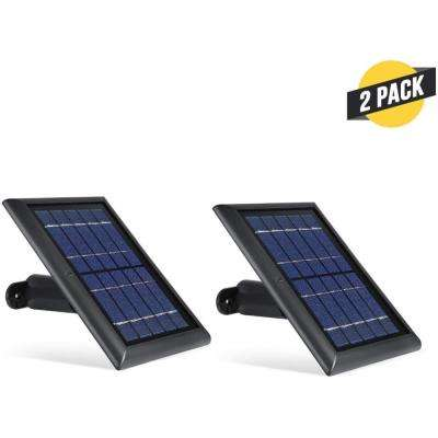 Solar Panel with Internal Battery for Blink Outdoor, Blink XT and Blink XT2 Security Camera (2-Pack, Black)