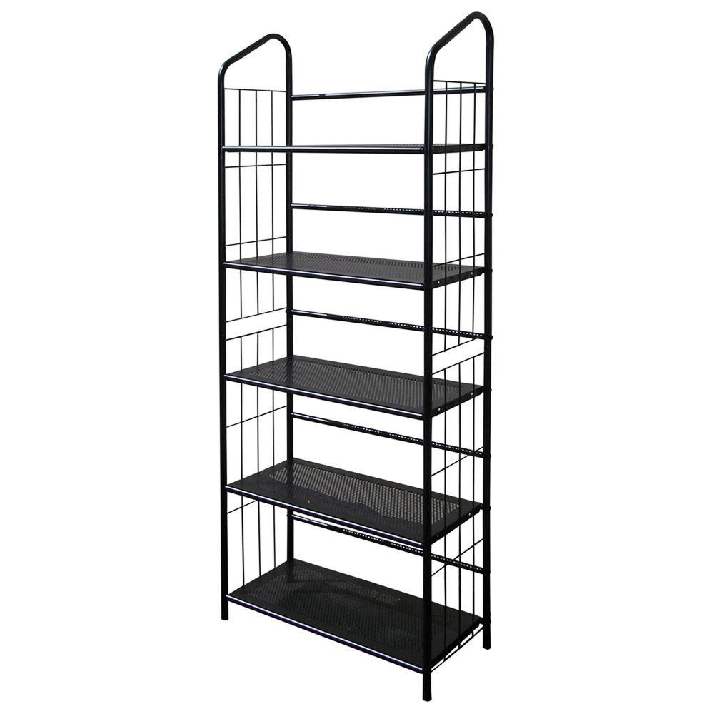 Home decorators collection black steel bookcase r597 5 for Home decorators bookcase
