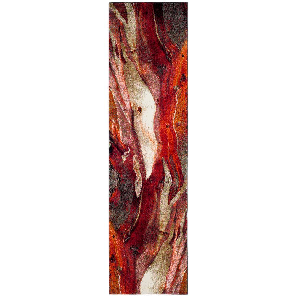 Glacier Red/Multi 2 ft. x 14 ft. Runner Rug