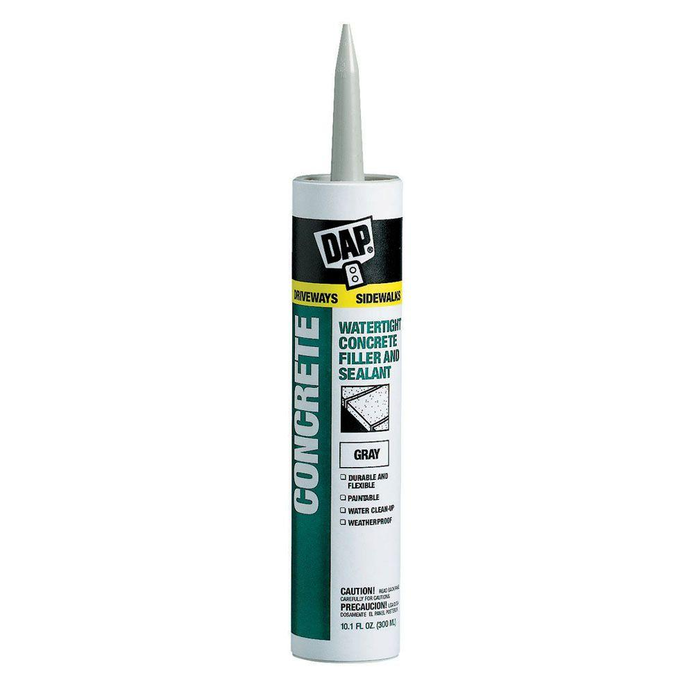 Grey Kitchen And Bath Caulk: DAP 10.1 Oz. Gray Concrete, Mortar Waterproof Filler And