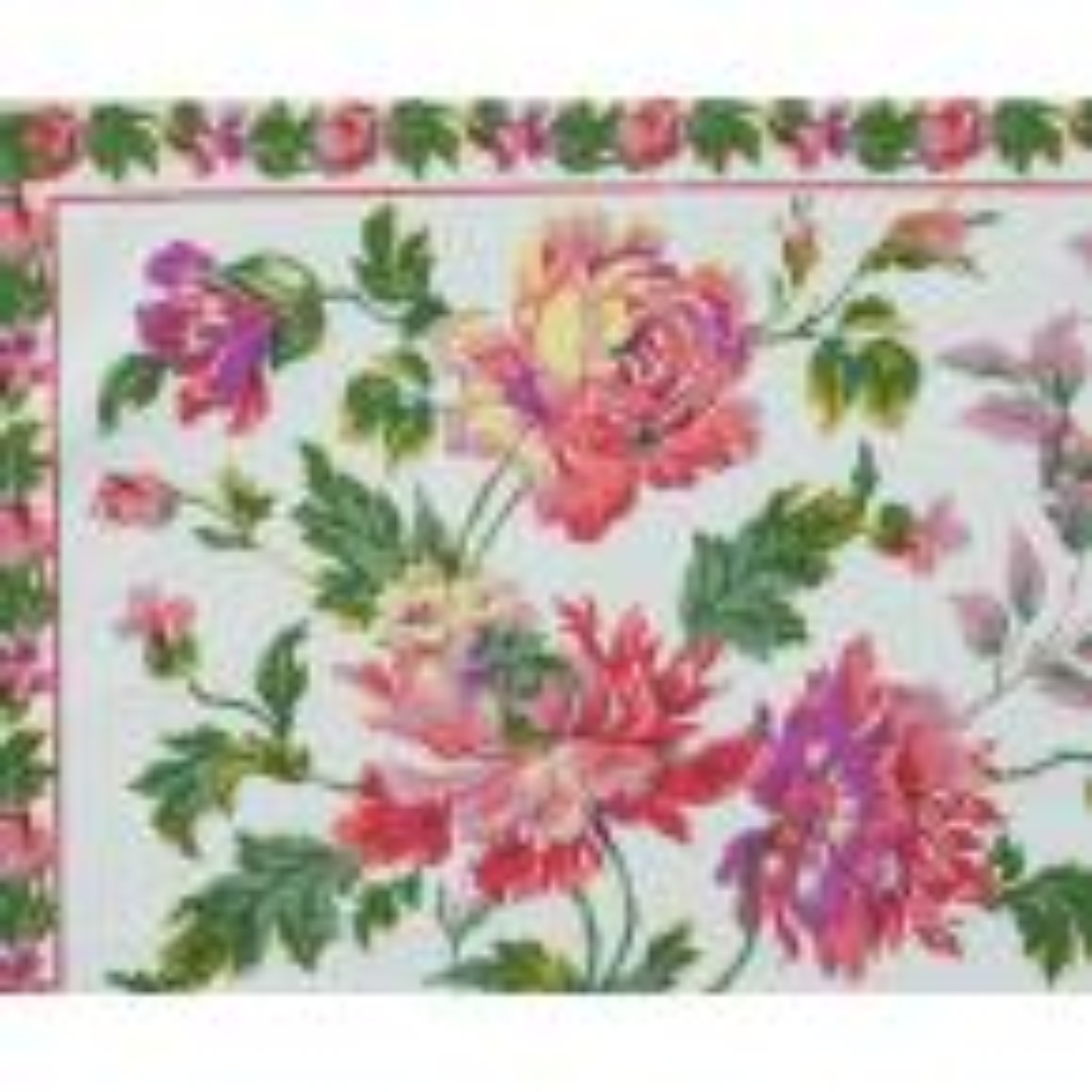 April Cornell Greta's Garden Ecru Floral Crochet Trimmed Napkins (Set of 4)