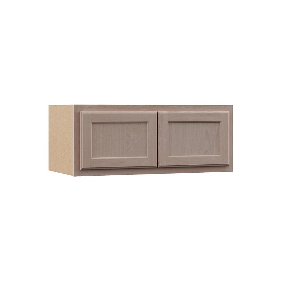 Home Depot Kitchen Cabinets Unfinished: Assembled 30x12x12 In. Wall Bridge Kitchen Cabinet In