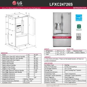 stainless steel lg electronics french door refrigerators lfxc24726s a0_300 lg electronics 23 7 cu ft french door refrigerator in stainless  at crackthecode.co