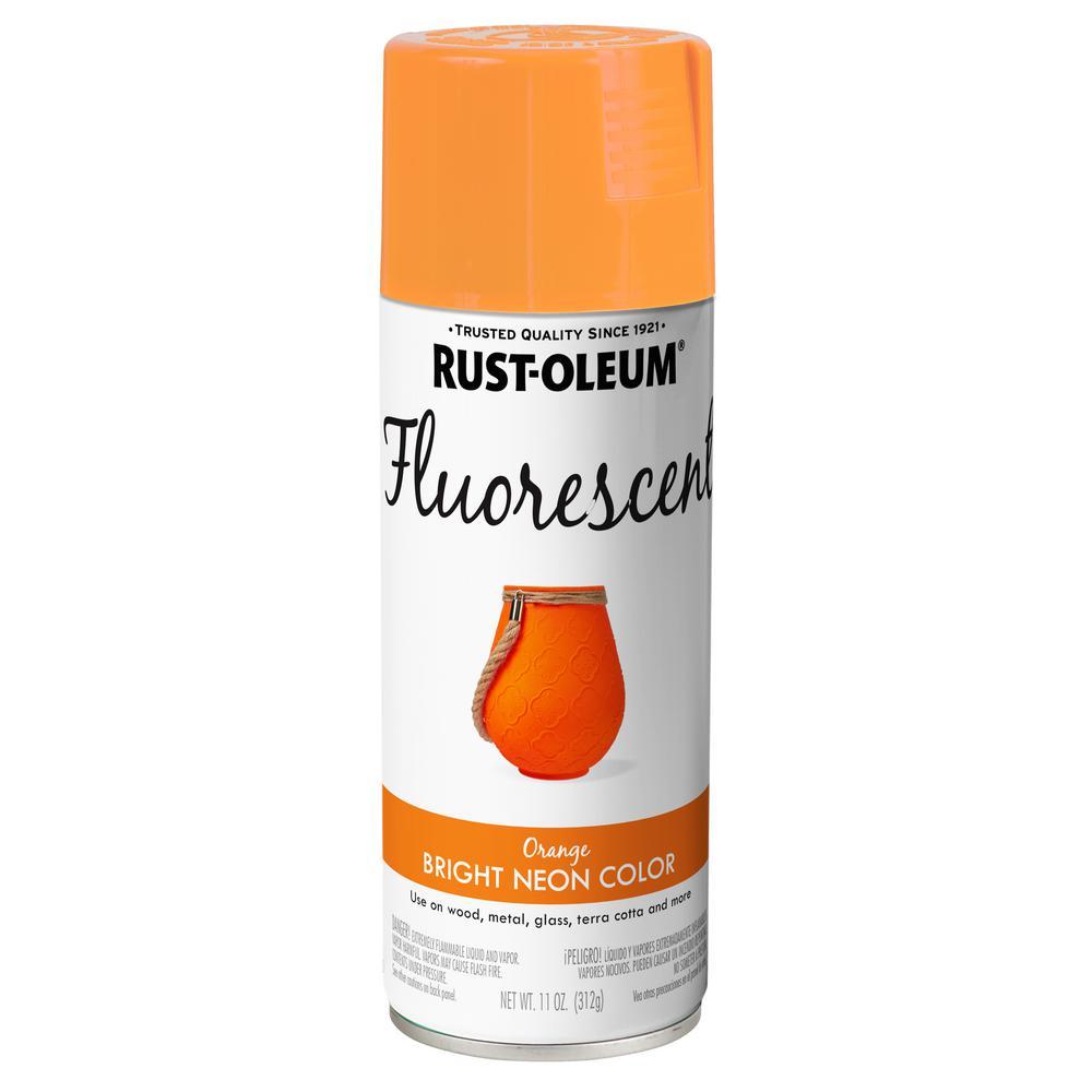 Rust Oleum Specialty 11 Oz Fluorescent Orange Spray Paint