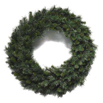 36 in Unlit Multi Pine Wreath with 260 tips