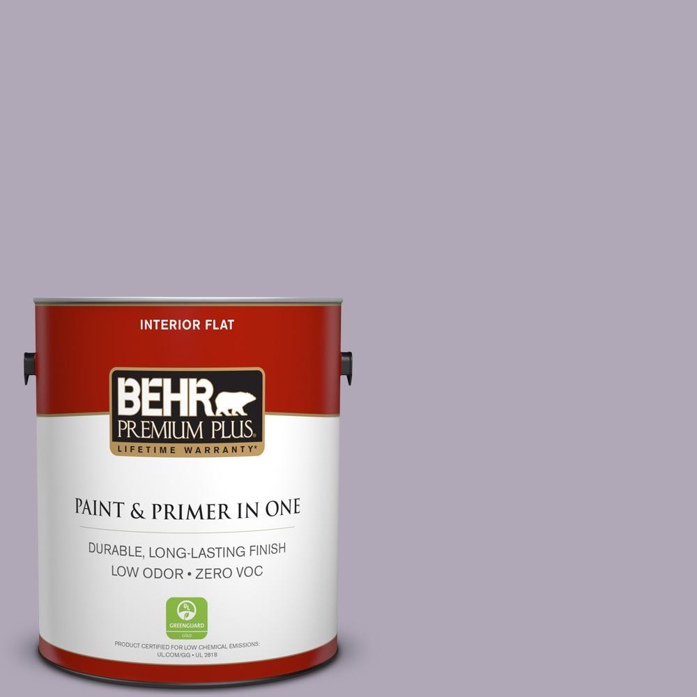 BEHR Premium Plus 1-gal. #660F-4 Plum Frost Zero VOC Flat Interior Paint
