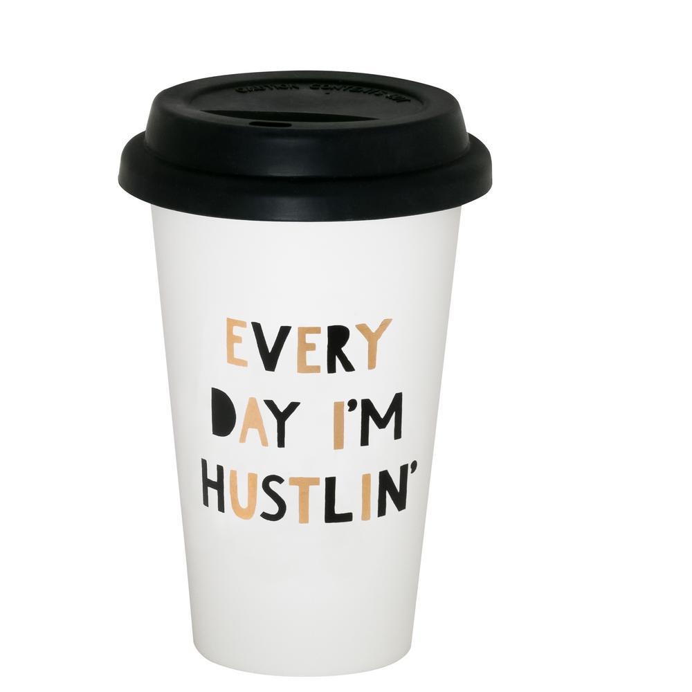 (10.5 oz.) Everyday I'm Hustlin thermal mug