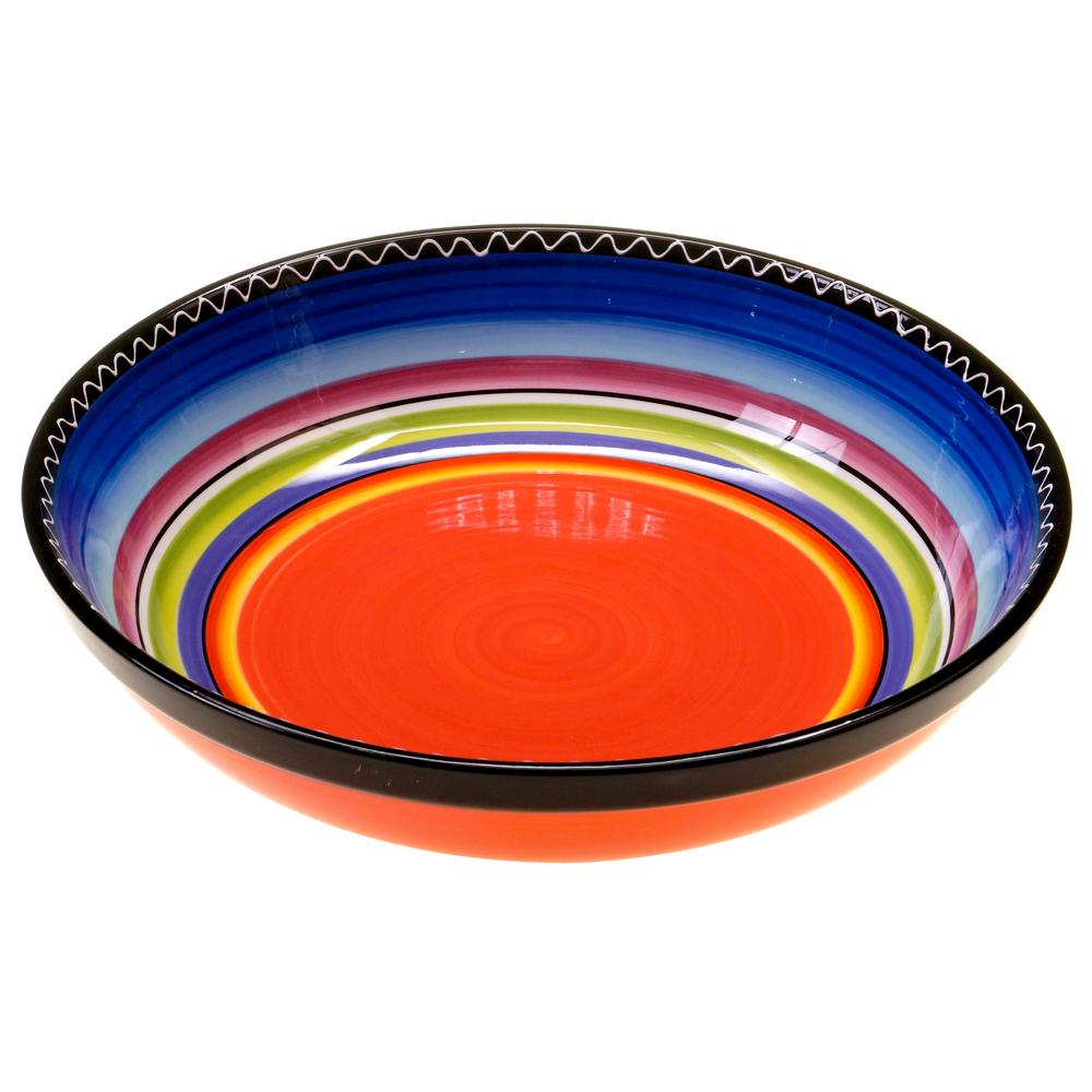 Tequila Sunrise Pasta/Salad Serving Bowl