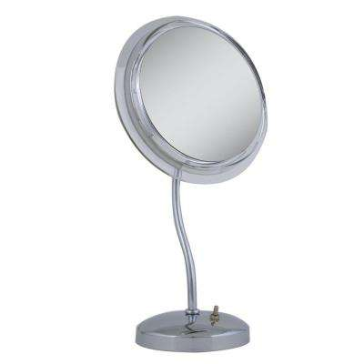 Surround Light 7X S-Neck Vanity Mirror in Chrome