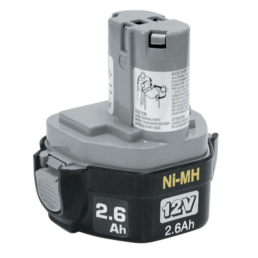 Makita 12V Ni-MH 2.6Ah Battery, Pod Style