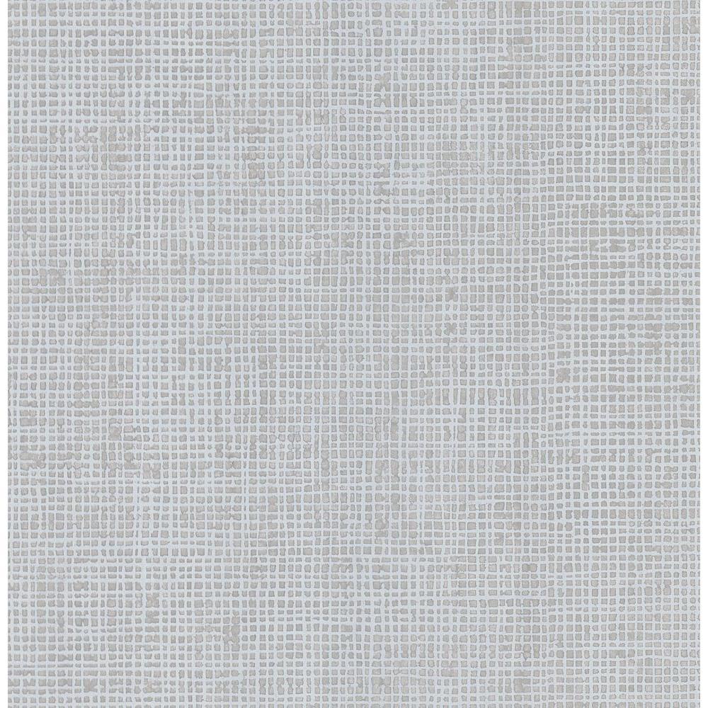 Brewster Simple Space Medium Gray Woven Effect Wallpaper Sample