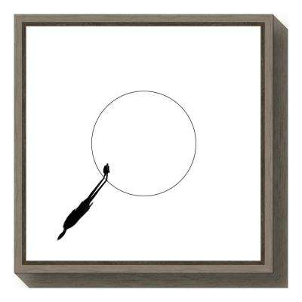 """Walking The Circle"" by Huib Limberg Framed Canvas Wall Art"
