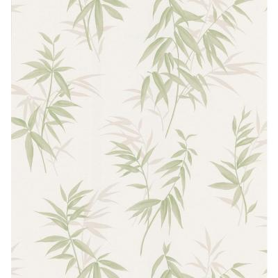 Bath Bath Bath III Green Bamboo Wallpaper Sample