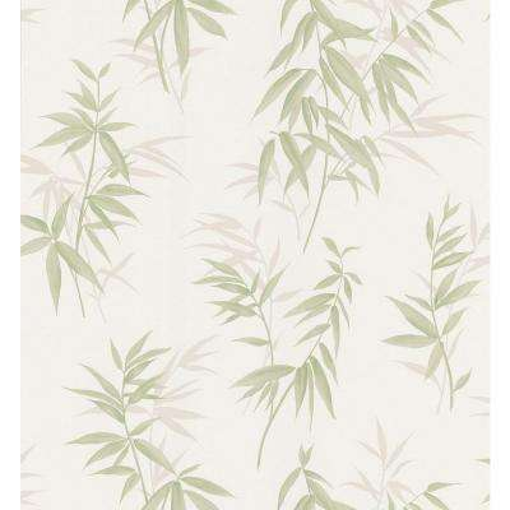 Bath Bath Bath III Green Bamboo Wallpaper Sample