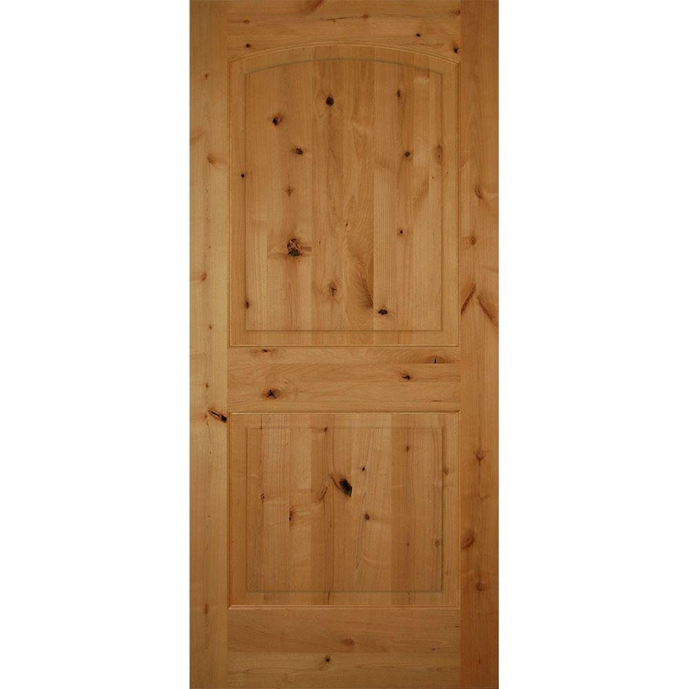 2 Panel Arch Top Unfinished Solid Core Knotty Alder Single Prehung Interior  Door HDKA2A30R   The Home Depot