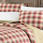 Eddie Bauer Ravenna Red Full/Queen Quilt Set (3-Piece)
