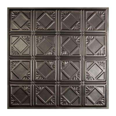Ludington 2 ft. x 2 ft. Lay-in Tin Ceiling Tile in Argento