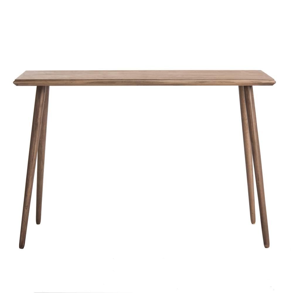 Safavieh Marshal 48 In Brown Standard Rectangle Wood Console Table Cns5700b The Home Depot