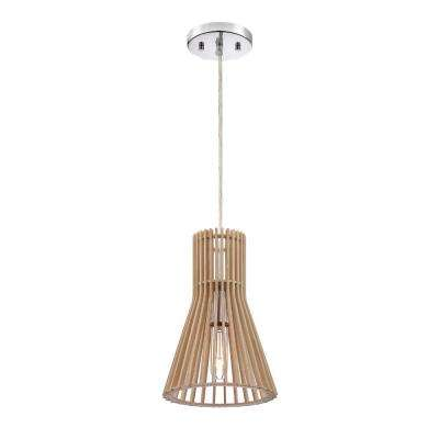 Kahale 1 Light Kula Wood Hanging Pendant