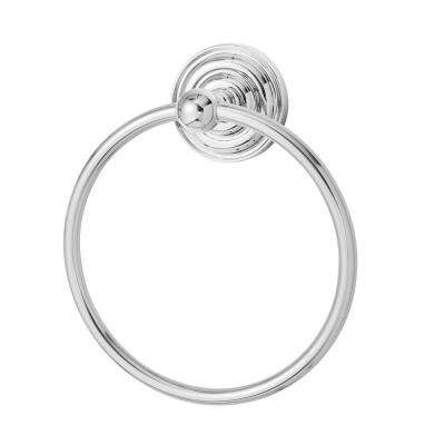 Echo Wall-Mounted Towel Ring in Polished Chrome