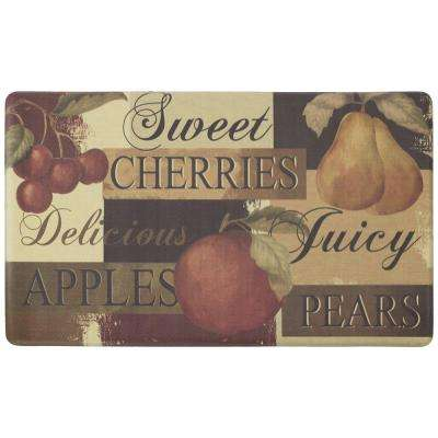 Scrumptious Fruit 18 in. x 30 in. Foam Comfort Kitchen Mat