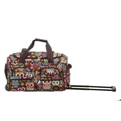 Rockland Voyage 22 in. Rolling Duffle Bag, Owl
