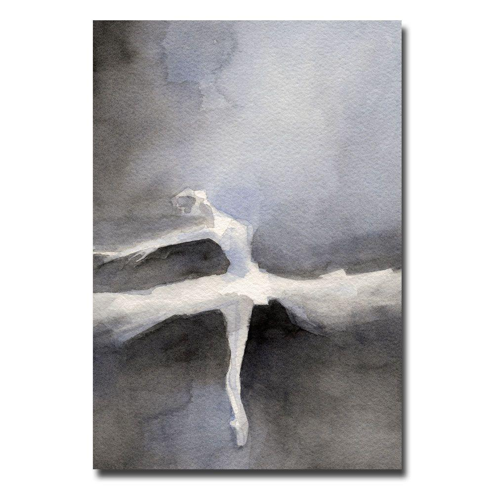 Trademark Fine Art 30 in. x 47 in. Ballet Dancer in a White Tutu Canvas Art-DISCONTINUED