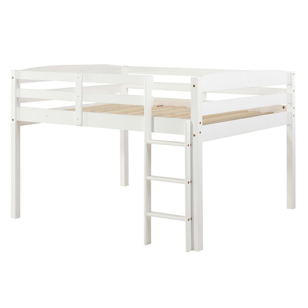 Camaflexi Concord White Twin Size Junior Loft Bed T1303 The Home Depot